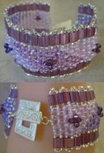 Notice bracelet Tila Twinika trio violets