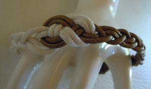 Bracelet à tresser cuir bronze en kit