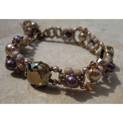 Bracelet Triade Cannelle avec breloque