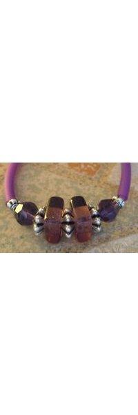 Bracelet Tube Violet cristal Swarovski