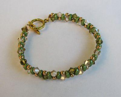 Bracelet Twinos Vert & Doré en kit