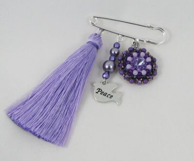 Broche en kit Amitié violet