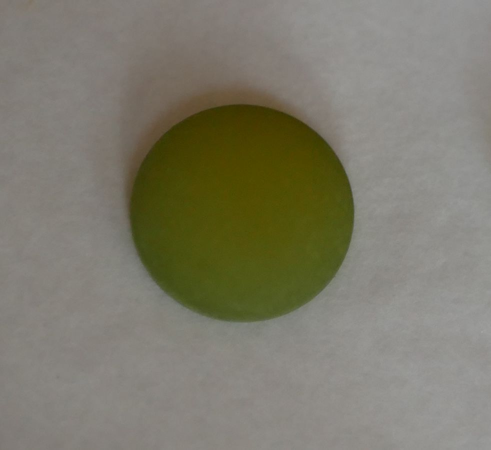 Cabochon Polaris vert Olivine diamètre 16mm
