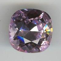 Cabochon swarovski carré 12mm violet