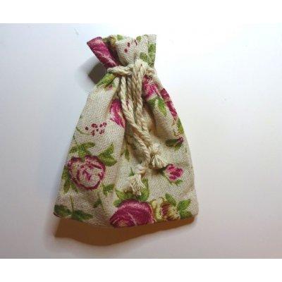 En cadeau : pochon lin & roses