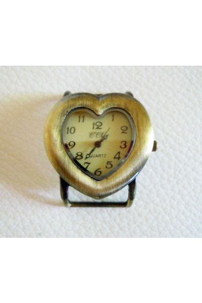 Cadran de montre bronze Coeur