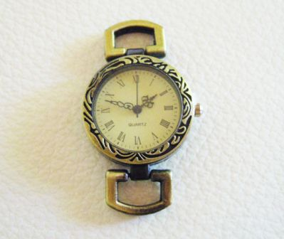 Cadran de montre bronze décoré