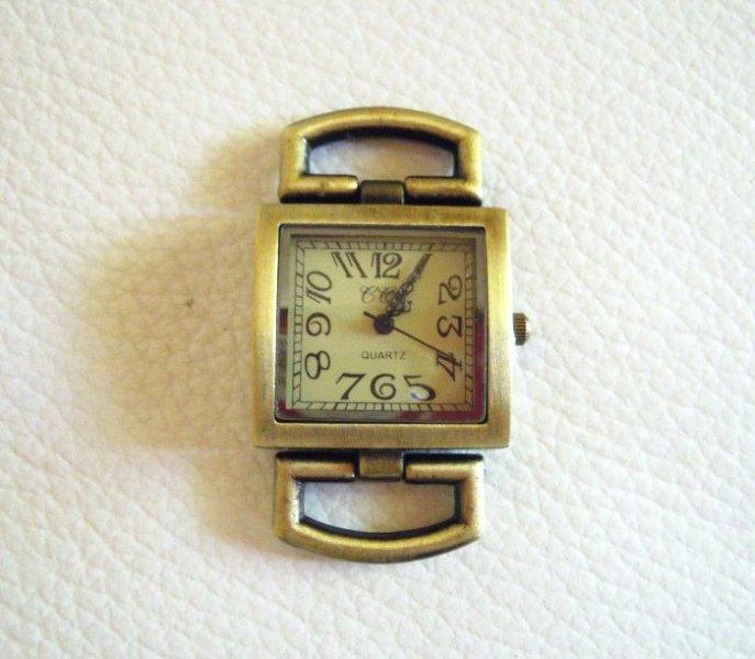Cadran de montre carré bronze doré
