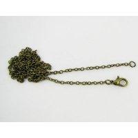 Chaîne bronze montée en collier 65 cm