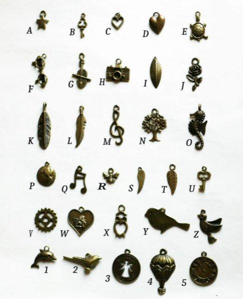 Charme bronze vielli au choix par 5