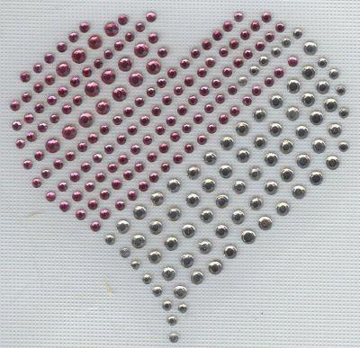 Coeur duo en strass