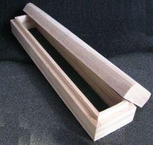 Coffret bois naturel long