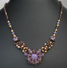 Collier Djerba Violet en kit