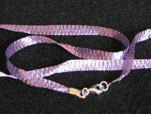 Collier en kit ruban Organza Violet