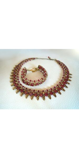 Collier  Argyle Rubis en kit