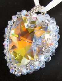 Collier pendentif  Grand coeur Cristalia