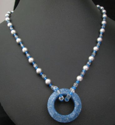 Collier pendentif Cosmic Ceramic blue
