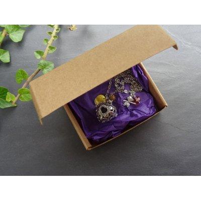 Collier pendentif diffuseur Coeur Ambre