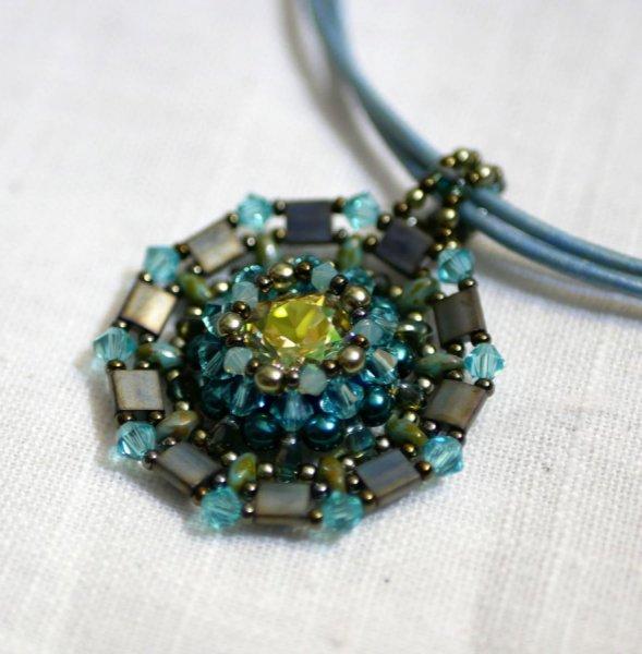 Collier pendentif Twina Vert turquoise