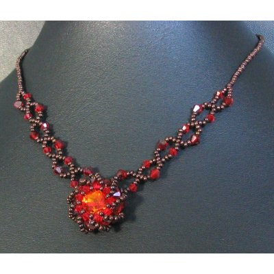 Collier Syros rouge en kit