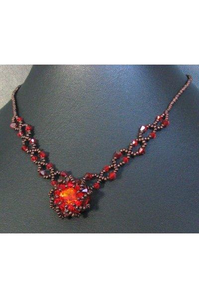 Collier Syros rouge en kit