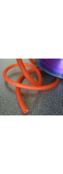 Cordon tube creux Orange 4mm par 20cm