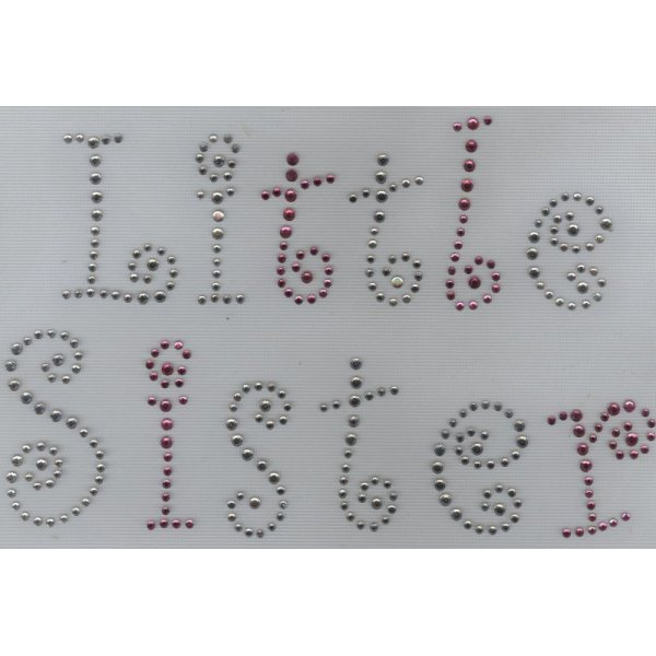 "Décor texte en strass ""Little sister"""