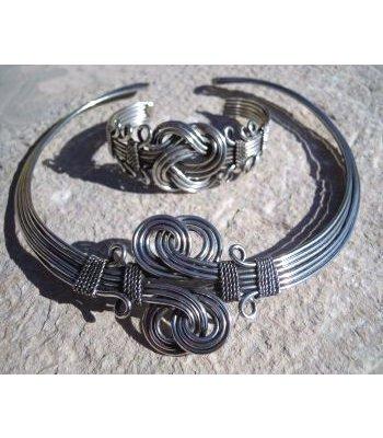 Ensemble collier + bracelet Indien