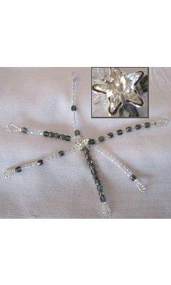 Etoile de table en cristal Gris/blanc