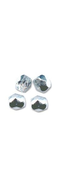 Facette 3mm crystal argenté x 20