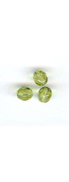 Facette 4 mm  olivine x 20