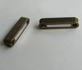 Fermoir magnétique bronze rectangle plat 34mm