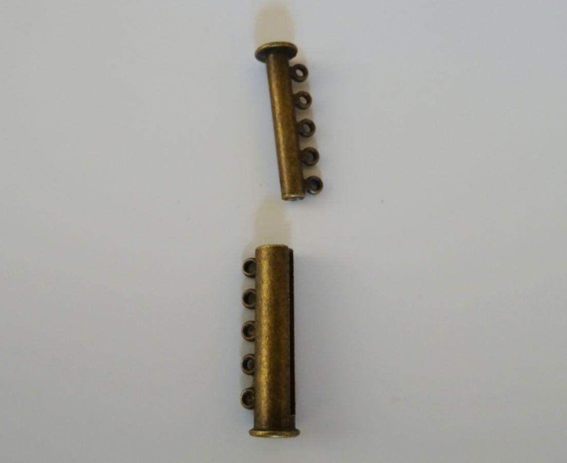 Fermoir 5 rangs bronze magnétique 30mm