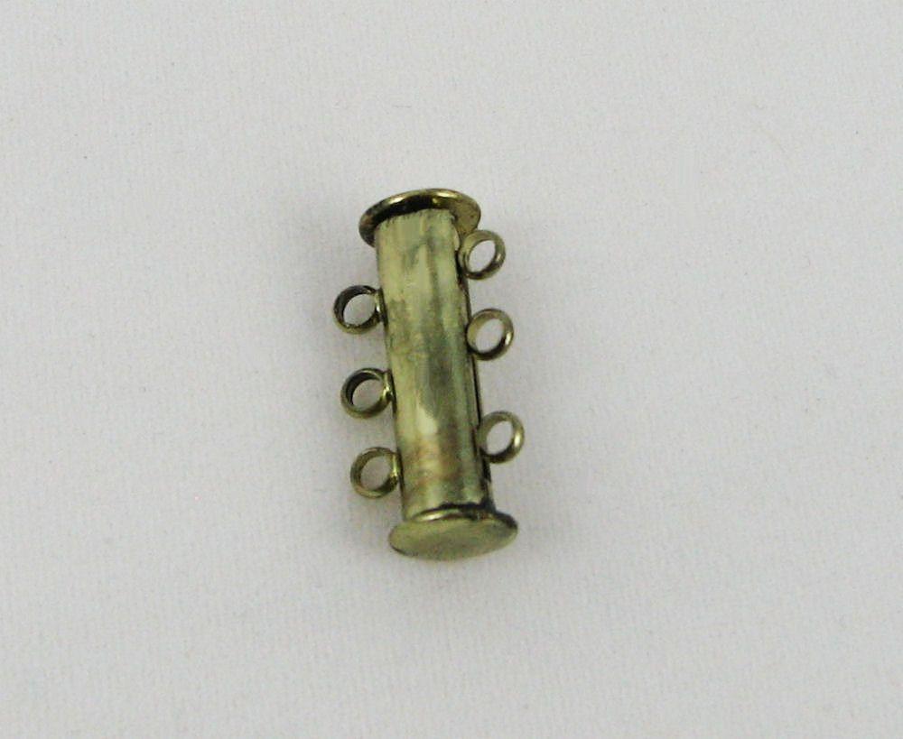 Fermoir 3 rangs bronze magnétique 20mm