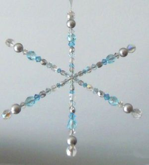Flocon de cristal Azur en kit sur armature fer