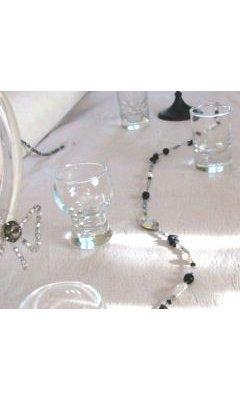 Guirlande en cristal Noir et blanc