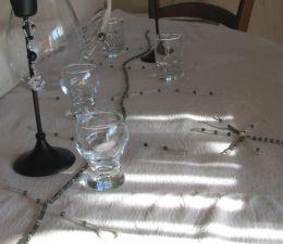 Guirlande de table en cristal Gris/blanc