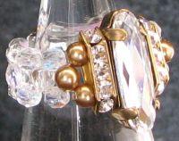 Kit bague Balleny Cristal dorée