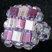 Kit bague carrée Tila Violet