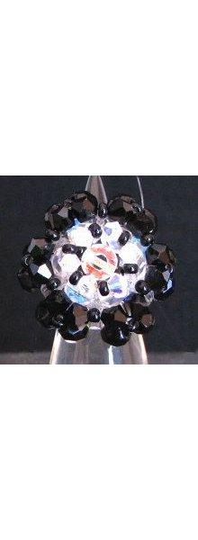 Kit bague Malte II Noir & cristal