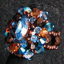 Kit bague Rodrigues Aqua bronze