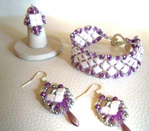 Kit bague Silkade Blanc & violet