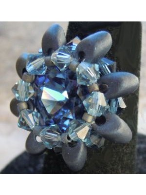 Kit bague Tinos Magatama Denim Blue