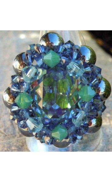 Kit bague Venus Bleu-Vert Hématite
