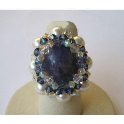 Kit bague Venus pierre Bleue