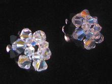 Kit Boucles d'oreilles Boule Crystal/noir