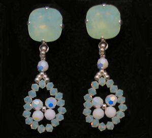 Notice boucles d'oreilles Cabochons Larmes Vert Opale