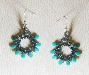 Kit boucles d'oreilles Pip turquoise