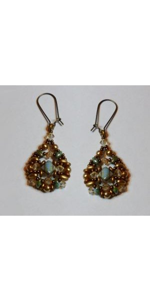 Kit boucles d'oreilles Silkade Vert de bronze