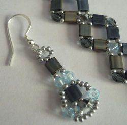 Kit boucles d'oreilles Tila Blue jean's